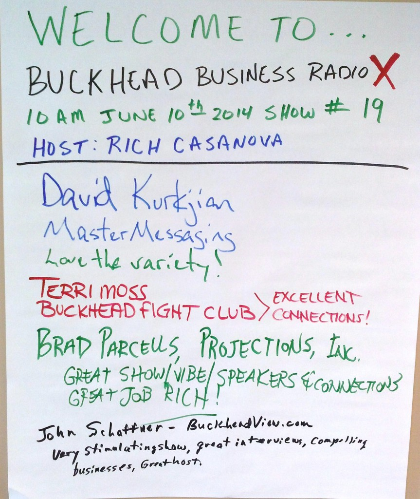 Buckhead Business RadioX 06-10-14 Wall of Fame
