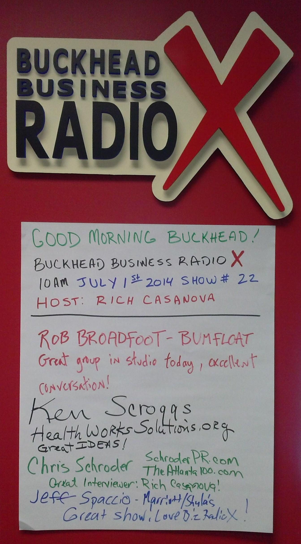 Buckhead Business RadioX 07-01-14 Wall of Fame