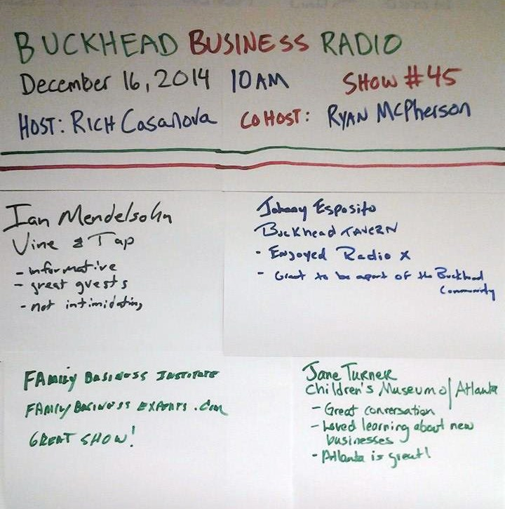 Buckhead Business Radio 12-16-14 Guest Wall of Fame